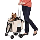 Guardian Gear Jet-Set Stroller for Dogs and Cats, Dune