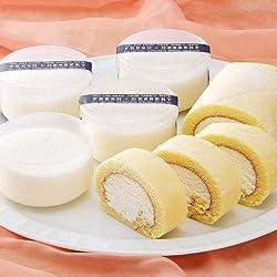 Patissier Louise とろけるレアチーズケーキ&純生ロールケーキ