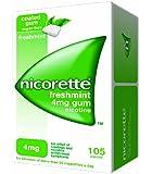 Nicorette Chewing Gum 4 mg Freshmint - 105 Pieces
