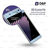 D&P Samsung Galaxy Note 7 3D Curve Fit Tempered Glass Screen Protector,Perfect Fit / Anti-Fingerprint / High-Transparency / Can't Fit All the Cases / Anti-Bubbles / Anti-Scratch[1+1 pack][Blue Coral] from D&P