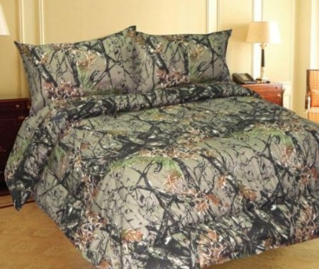 Woodland Camouflage - Microfiber Comforter Spread - King front-68241
