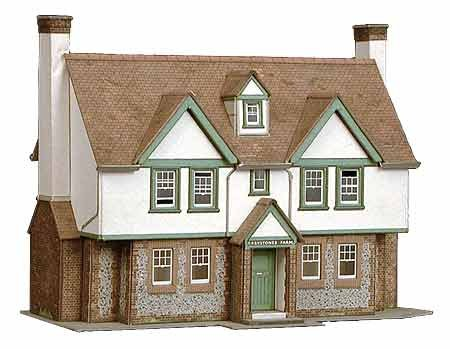 B24 Superquick Greystones Farmhouse 1/72 OO/HO - Card Kit