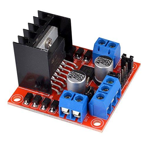 Kuman l298n motor drive controller board dc dual h bridge for Smart drive motor controller