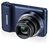 "Samsung WB800F 16.3MP CMOS Smart WiFi Digital Camera with 21x Optical Zoom, 3.0"" Touch Screen LCD and 1080p HD Video (Black)"