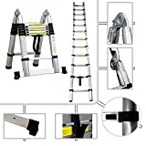2-in-1 Stepladder 95 cm to 3.80 metres PRO telescopic ladder in aluminium - EN131 standards