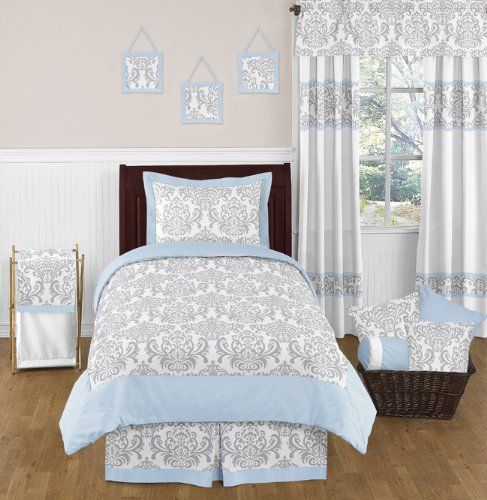 Damask Print Bedding 7875 back