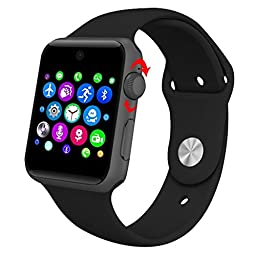 YEMON DM09 Bluetooth SmartWatch 2.5D ARC HD Screen Support SIM Card Wearable Devices Smartphone Fitness Tracker For IOS Android (DM09 Black)