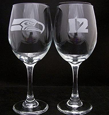 Seattle Seahawks 12th man Wine Glass, Seahawks, Seahawks wine glass, seahawks glass, Seahawks gift, 12th man gift