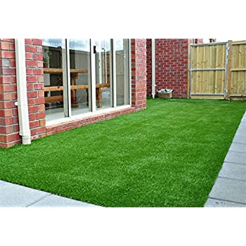 GOLDEN MOON Artificial Grass Rug Series PE Indoor/Outdoor Green Decorative Synthetic Artificial Grass Turf Area Rug 1