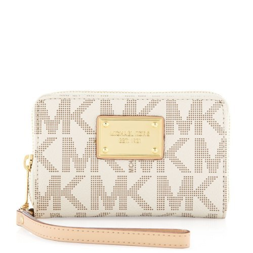 Michael Kors Multifunction Logo Phone Case - Vanilla