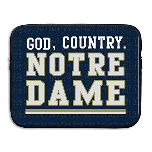 FKKTee Notre Dame Fighting Irish Navy God, Country On Field 13 15 Inch Laptop... ()