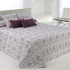 Clara vidal - Colcha estampada baskin(180x270 cm, cama 90), color púrpura