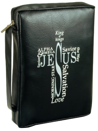 Names of Jesus - Black Leather-look Bible Cover