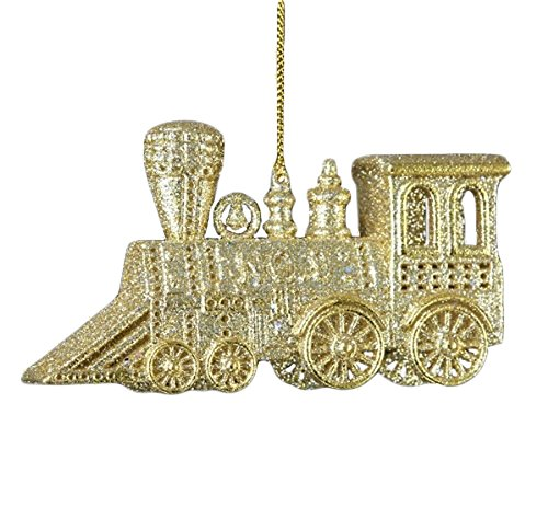 Glitter Silver and Gold Train Ornament