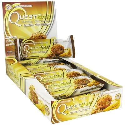 Quête Nutrition Bar, muffin banane noix, Gf,