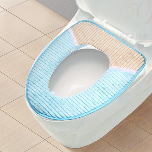 Home Toilet Mat Toilet Seats Toilet Cover Warmer Antibacterial K0785 (Blue)