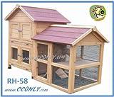 RH-58-2-Story-WRun-Rabbit-Hutch-with-Storage-for-Hay-Straw