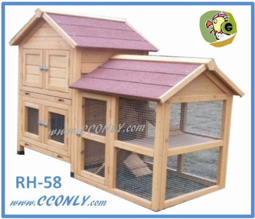 RH-58-2-Story-WRun-Rabbit-Hutch-with-Storage-for-Hay-Straw