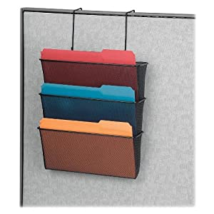 Mesh Partition Additions Three-File Pocket Organizer 12 5/8 x 16 3/4 Black