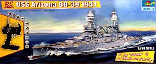 1941-USS-Arizona-BB-39-Kriegsschiff-1200-Model-Kit-Bausatz-RC-ferngesteuert-Trumpeter-07015