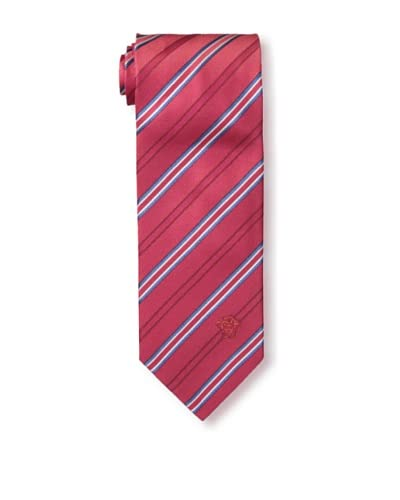 Versace Men's Striped Tie, Red/Blue/White
