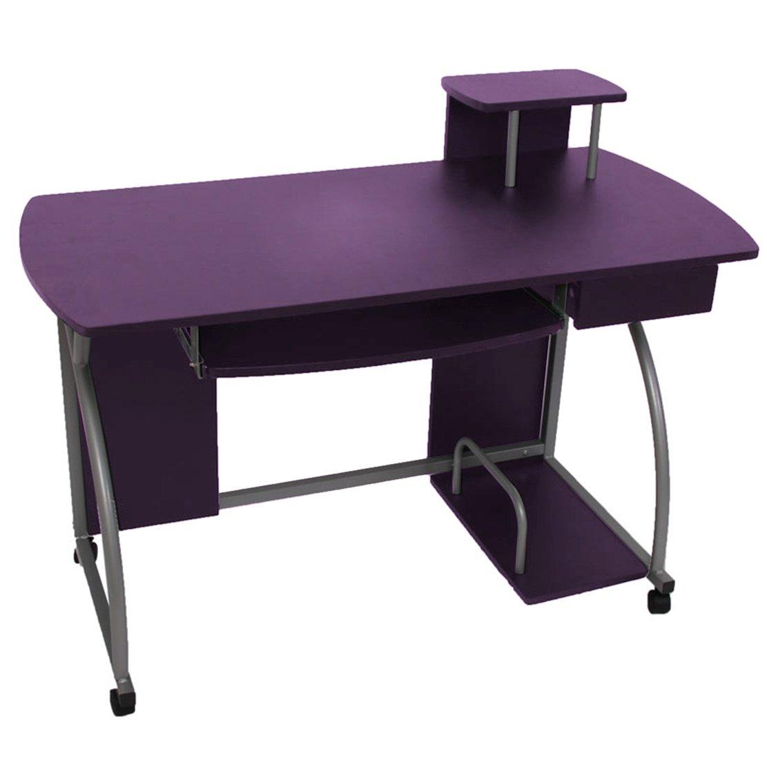 Jugend-Schreibtisch Computertisch Bürotisch Ohio II, ca 90x115x55cm ~ lila günstig bestellen