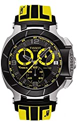 Tissot T-Race Black Dial SS Rubber Chronograph Quartz Men's Watch T0484172705711