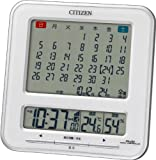 CITIZEN (シチズン) 目覚し時計 パルデジットカレンダーS 電波時計 温度表示 湿度表示 六曜表示 8RZ103-003
