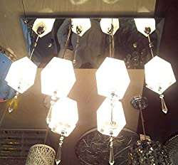 S M Arcade Grand 6 Lights LED glass & metal chandelier (SM-35-4/6L)