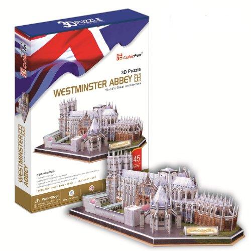 Ezhishop Westminster Abbey Diy 3D Puzzle Model Toy-145 Pieces