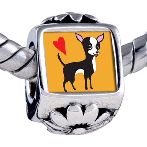 Pugster Bead Chihuahua Dog Beads Fits Pandora Bracelet