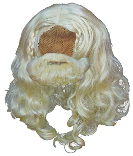 Blonde Viking Wig and Beard Set Halloween Costume Accessory