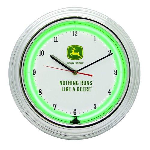 John Deere 14-1/2-Inch Neon Wall Clock