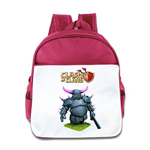 Jade Custom Superb War Game Cartoon Role Kids School Bagpack Bag For 1-6 Years Old Pink