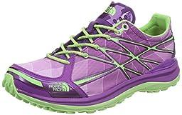 The North Face Women\'s Ultra Trail II Byzantium Purple/Paradise Green Sneaker 10 B (M)