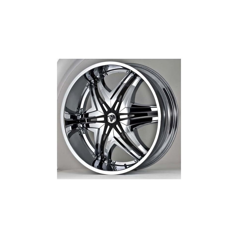 DIABLO ELITE 22X9.5+13 5X115+5X120 C.B 73.1 CHROME (STANDARD) BLK/CHR INSRT Automotive