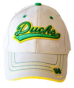 Buy NCAA Licensed Oregon Ducks Embroidered Gray Baseball Hat by NCAA