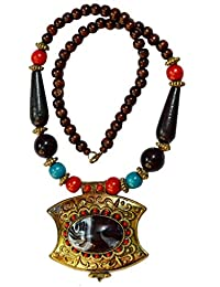 Men Style Spring Summer Bohemia Beach Vintage Big Stone Gold Black Zinc Alloy And Wood Necklace Pendent For Girls...