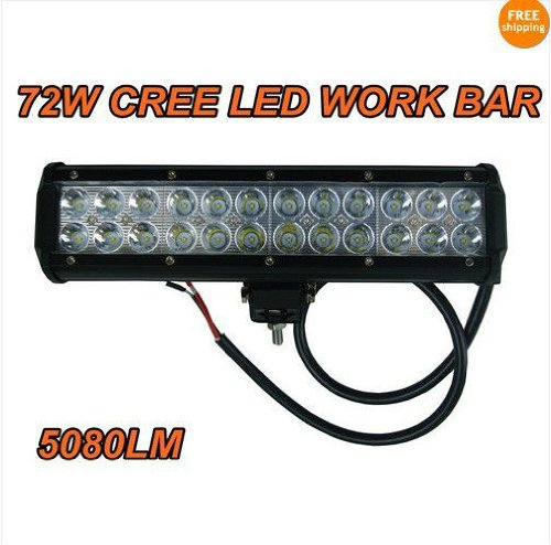 12 Inch 72w Cree LED Light Bar Work Light 5040lm Lamp