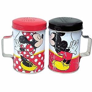 """WL SS-WL-18919 Colorful Mickey & Minnie Kissing Tin Salt & Pepper Shakers, 4"""""""