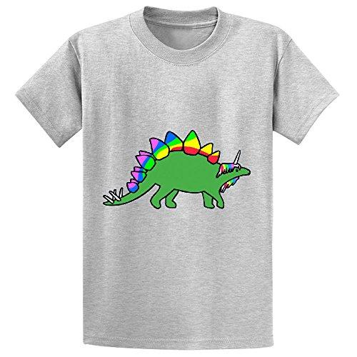 Unicorn Stegocorn Unicorn Stegosaurus Unisex Personalized Crew Neck Tees Grey (Pickles Calendar 2015 compare prices)