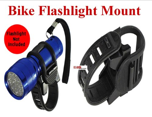 Bike Flashlight (Headlight) Mount - Adjustable to fit 3/4