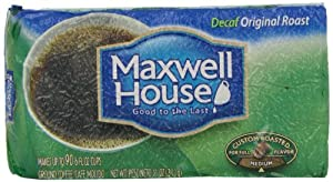 Maxwell House Decaf Original Roast, 11-Ounce Brick (Pack of 3)