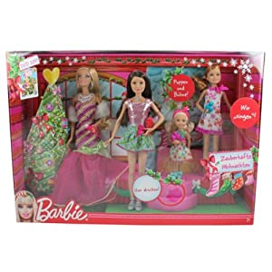mattel w2989 barbie zauberhafte weihnachten singende. Black Bedroom Furniture Sets. Home Design Ideas