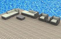 Hot Sale Urban Furnishing - BRUNEI 10pc Modern Outdoor Backyard Wicker Rattan Patio Furniture Sofa Sectional Couch Set - Beige