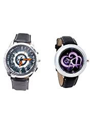 Foster's Men's Grey Dial & Foster's Women's Black Dial Analog Watch Combo_ADCOMB0002312