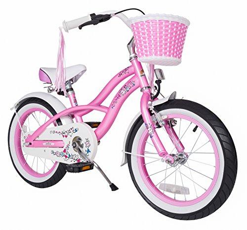 BIKESTAR® Premium Vélo pour enfants à partir d'env. 4-5 ? Edition Deluxe Cruiser 16 ? Couleur Rose