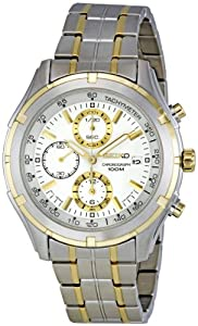 Seiko Men&#39;s SNDC38 Two Tone Stainless Ste Bracelet Watch