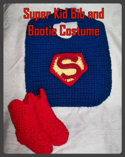 Super Kid Bib and Bootie Crochet Pattern PDF