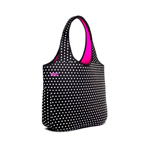 Built Neoprene Essential Tote Bag, Mini Dot, Black And White front-522982